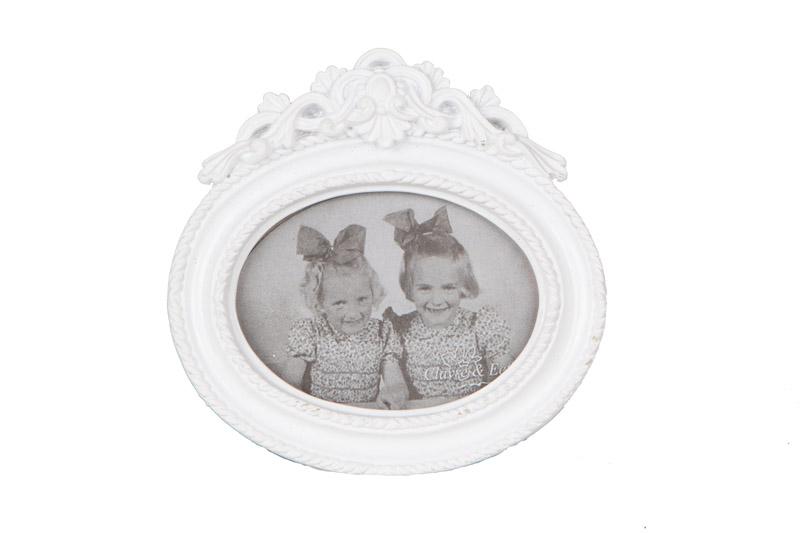 Clayre & Eef fotolijst met bovenaan een ornament in kunststof CE-2F0167