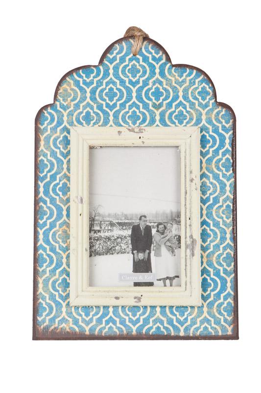 Clayre & Eef fotolijst retro uit hout met verweerde look CE-2F0175
