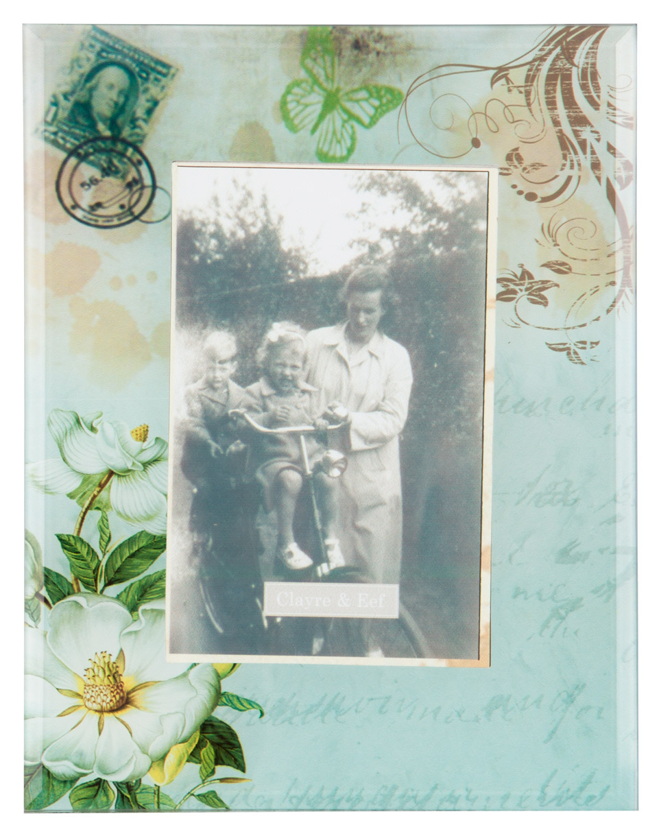 Clayre & Eef  fotolijst retro met print achter glas CE-2F0222